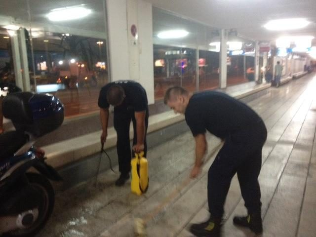 Čišćenje i pranje vanjskih kamenih površina od Lučke kapetanije do Upravne zgrade - Terminala
