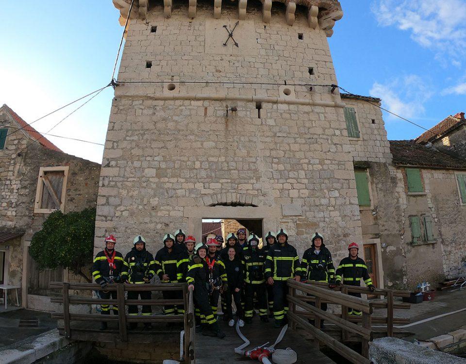 Vatrogasna vježba u sklopu projekta ProteCHt2save